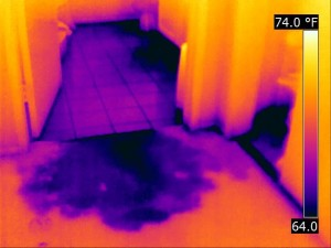 Infrared water leak